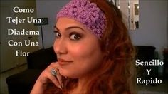 bandas para el pelo tejidas a crochet - YouTube
