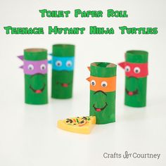 Cardboard Tube Ninja Turtles Looking for a fun Teenage Mutant Ninja Turtle craft to do with your kids? Check out this super easy toilet paper roll craft! The post Cardboard Tube Ninja Turtles was featured on Fun Family Crafts. Ninja Turtle Party, Ninja Turtles, Ninja Turtle Crafts, Ninja Turtle Birthday, Crafts For Boys, Family Crafts, Craft Activities For Kids, Crafts To Do, Craft Ideas
