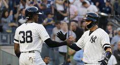 Los Yankees rompen el récord de más jonrones pegados en un mes, A base de jonrones, los Yankees han establecido su poderío Mlb, Romper, Baseball, Sports, Seattle Mariners, Overalls, Baseball Promposals, Hs Sports, Short Jumpsuit