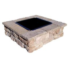 $412 sale - Fossill Stone Brown Square Fire Pit Kit-FBSFP at The Home Depot