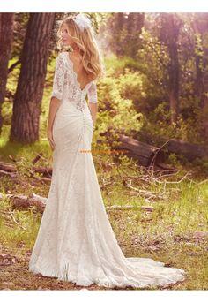 Meerjungfrau Schöne Moderne Brautkleider aus Spitze mit Schleppe