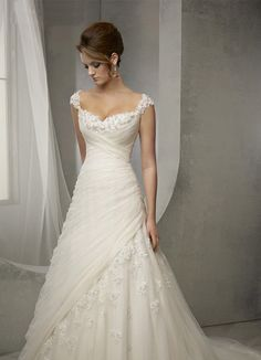 Style vintage mariage robe dentelle Cap par BridalBeautyBoutique