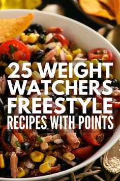 25 Weight Watchers Freestyle Dinner Recipes | If you're looking for Weight Watchers dinner recipes with points (SmartPoints, that is!), we've rounded up 25 of our favorite Weight Watchers Freestyle recipes. Whether you prefer chicken or beef, meatloaf or vegetarian chili, salads or sandwiches, crockpot or instant pot, these ideas double as great leftovers for lunch!
