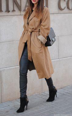 AMAZING coat & great black bootie