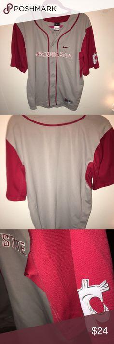 f63f9cd169 WSU Nike dri-fit baseball jersey 🎈 WSU men s XL baseball jersey