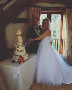 Cutting the amazing cake! #MrandMrsBryant #HighRocks #TunbridgeWells #wedding