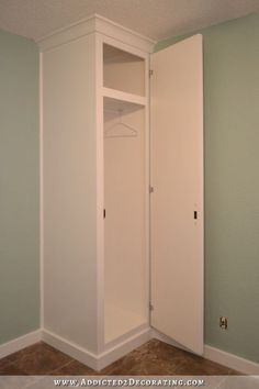 DIY How to Build Cabinet-Style Closets To Flank Your Bed (Double Your Bedroom Storage - Cabinet - Ideas of Cabinet - DIY Cabinet-Style Bedside Closets Finished! Built In Cabinets, Diy Cabinets, Laundry Room Cabinets, Closet Bedroom, Bedroom Decor, Tiny Master Bedroom, Budget Bedroom, Bathroom Closet, Bathroom Kids