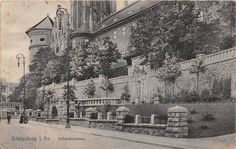 Königsberg Preussen Schloßterrasse gelaufen 1915
