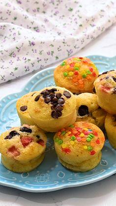 Pancake Bites, Pancake Muffins, Mini Pancakes, Breakfast Muffins, Sweet Breakfast, Mini Muffins, Breakfast Recipes, Breakfast Bites, Waffles