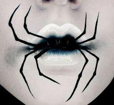 15 gruselige Halloween-Make-up-Ideen, die . - Halloween Makeup Secrets - Make Up Makeup Clown, Witch Makeup, Scary Makeup, Circus Makeup, Devil Makeup, Makeup Lips, Sfx Makeup, Halloween Makeup Looks, Halloween Looks