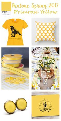 Exclusive design with Pantone Primrose Yellow