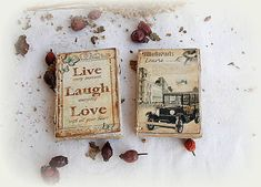 Live Laugh Love, Handmade, Vintage, Paper, Hand Made, Vintage Comics, Handarbeit