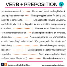 Verb preposition combinations #learnenglish https://plus.google.com/+AntriPartominjkosa/posts/h7YPAKFJsPw
