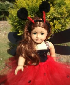 Ladybug Costume for your American Girl dolls plus 20 more ideas on the blog!
