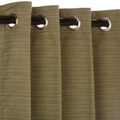 Pawleys Island Sunbrella® Outdoor Curtain in Sage - BedBathandBeyond.com