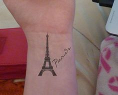 Maybe write 'je t'adore' or je t'aime under the tower? Or our wedding date... Or no writing at all...