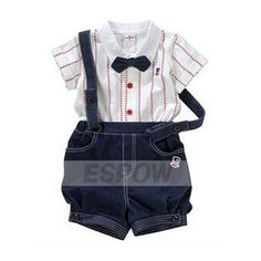[US$20.99] 0-2 Years Old Newborn Boy Clothing Nice Baby Jacket and Overall 2PCS Set
