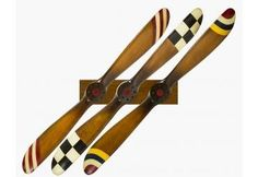 Our set of 3 Barnstormer Wood Airplane Propeller display is simply stunning aviation wall decor & awesome pilot gift. Wooden Airplane, Airplane Decor, Airplane Bedroom, Aviation Decor, Aircraft Propeller, Pine Timber, Model Airplanes, Solid Pine, Wooden Walls