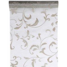 Tischläufer Arabesque siber 28cm x 5m, 1 Rolle