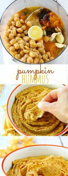 Pumpkin Hummus #Food #Drink #Musely #Tip