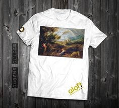 "www.aloft.clothing ""Rubens Glider"" men's t-shirt, white cotton, paragliding brand, casual line Like our page: https://www.facebook.com/AloftBoundaryLayerApparel Rubens painting was manipulated by Ivan Lee Purcell."