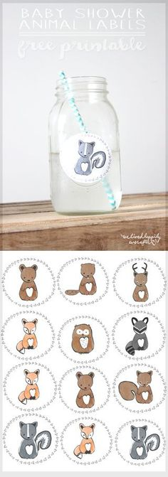 Free Customizable Forest Animal Child Bathe Invite Printable... (We Lived Fortunately Ever After)