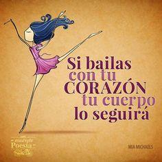 56 Ideas For Salsa Dancing Quotes Heart Zumba Quotes, Dance Quotes, Music Quotes, Swing Dancing, Dancing In The Rain, Instructor De Zumba, Salsa Bachata, Little Girl Dancing, Spanish Phrases
