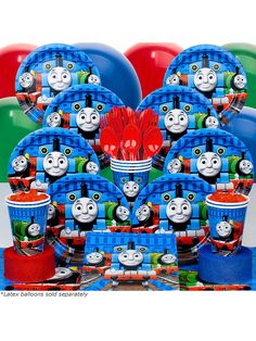 Thomas Deluxe kit Serves 8 Guests | Discount Party Accessories and Decorations