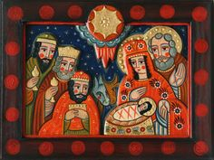 . Religious Icons, Religious Art, Christmas Nativity, Christmas Angels, Jesus Christ Images, Acrylic Painting Tips, Three Wise Men, Biblical Art, Spirited Art