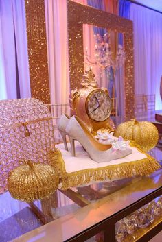This Cinderella Quinceañera is out of this world!! See more party ideas and share yours at CatchMyParty.com