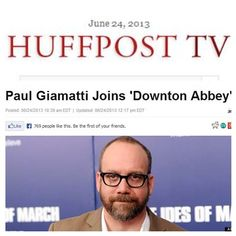 """Paul Giamatti will join the """"Downton Abbey"""" cast for season 4! What do you think of the abbey's newest addition?"""