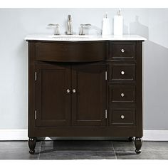 Style Selections Clementon In X In Cherry Integral Single - 38 inch bathroom vanity