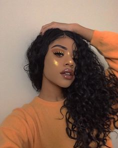Online shop Brazilian Deep Wave With Closure Rabake Hair Deep Curly 3 Bundles With Closure Virgin Human Hair,worldwide shipping factory cheap price Cute Makeup, Pretty Makeup, Makeup Looks, Gorgeous Makeup, Curly Hair Styles, Natural Hair Styles, Remy Human Hair, Human Hair Wigs, Remy Hair