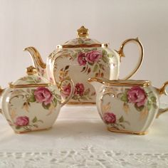 Sadler Rose Tea Set