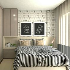 Modern Style Bedroom Design Ideas and Pictures. You're a fan of the modern designs and want to redecorate your bedroom to welcome New Year, let's see modern bedroom ideas. Home Decor Bedroom, Interior Design, House Interior, Home Deco, Room, Home Decor, Small Bedroom, Bedroom Furniture, Home Bedroom