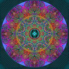 rainbow doily mandala