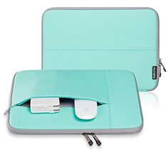 "Runetz - 13-inch Hot Teal Neoprene Sleeve Case Cover for MacBook Pro 13.3"" with or w/out Retina Display and MacBook Air 13"" Laptop - Teal-Gray Runetz   Link: http://www.amazon.com/dp/B00SK9275Y/ref=cm_sw_r_pi_dp_KRIqvb1T28ZXF"