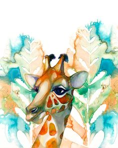 8x10 PRINT / Giraffe by BellaAndBunny on Etsy, $28.00
