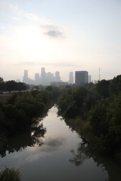 Look at that smoggy city. Houston, Bridge, Texas, River, City, Photos, Outdoor, Outdoors, Pictures
