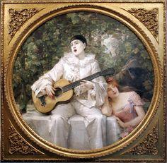 Leon Comerre_pierrot serenata