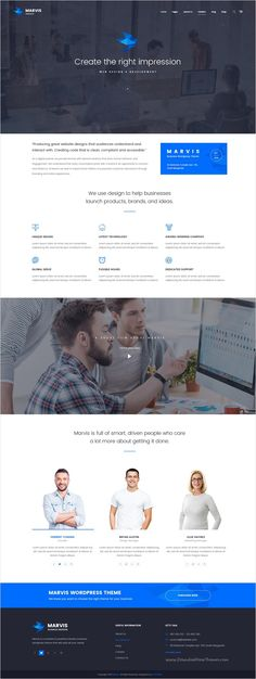 Marvis is unique and modern design #PSD #template for multipurpose #startups business and corporate website with 6+ amazing homepage layouts and 40 organized PSD pages download now➩ https://themeforest.net/item/marvis-business-multipurpose-psd-template/17340073?ref=Datasata