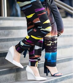 Love the pointy toe wedge!