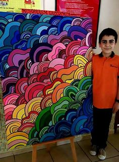 mdf üzerine guaj boya. 7.sınıf görsel sanatlar dersi etkinliği