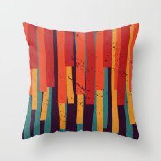 Squared Stripes Throw Pillow