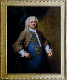 George Frideric Handel (born Georg Friederich Händel) (1685-1759), painting (1740), by John Theodore Heins [born Dietrich Heins] (1697-1756).