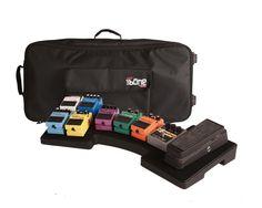 Gator G-MEGA-BONE-W Mega Bone Pedal Board | w/ Rolling Bag & Power