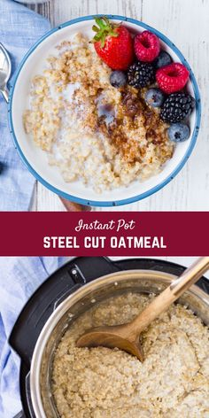 You Have Meals Poisoning More Normally Than You're Thinking That Making Instant Pot Steel Cut Oats Is Easy, Almost Completely Hands-Off, And Creates The Perfect Hearty Breakfast Delicious Breakfast Recipes, Brunch Recipes, Make Ahead Breakfast Casserole, Breakfast Dishes, Using A Pressure Cooker, Pressure Cooking, Steel Cut Oats, Kid Friendly Meals, Love Food