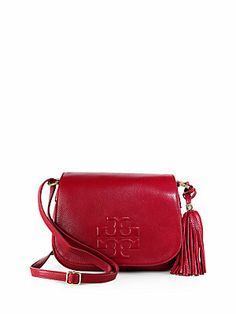 Tory Burch Thea Leather Fringe Crossbody Bag