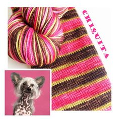 """Check this from BiscotteYarns.com website :) Bis-sock yarn """"Chiquita"""" self-striping hand-dyed yarn"""
