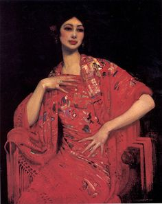 The Red Shawl, 1913 by George Lambert